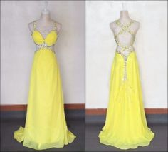 Gorgeous Sexy Crossed Back Prom Dresses,Sequins And Beading Cut Out Straps Chiffon Sweep Train Prom Dresses,Prom Gowns,Evening Dresses,Formal Dresses