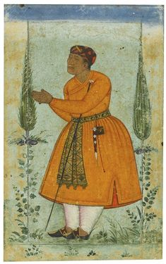 A courtier, probably Raja Man Singh of Amber
