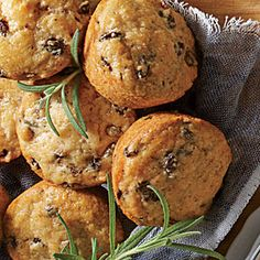 Fresh Rosemary Muffins | MyRecipes.com Since I have fresh rosemary always on hand! Also has goat cheese! From Southern Living.
