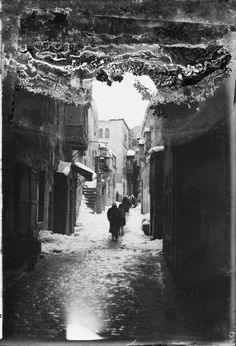Snow in Jerusalem, in 1921. Snow is mentioned in the Bible only once.