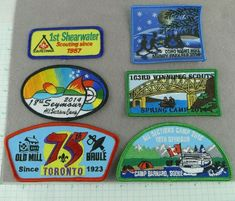 Lot of 6 Boy Scout Badges And Shoulder Patches Night Hike Camps Canada Cub Scout Badges, Cub Scouts, Girl Scouts, Boy Scout Patches, Scouts Of America, Scout Camping, Spring Is Coming, Scouting, Camps