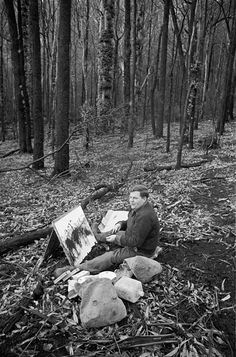 Fred Williams :: The Collection Australian Painting, Australian Artists, Fred Williams, Artist At Work, Creative Inspiration, Landscape Paintings, Art Gallery, Photography, Image