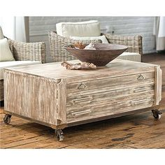Distressed coffee table - i LOVE LOVE LOVE this piece!