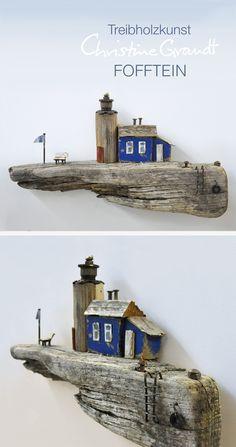 Christine Grandt - Treibholzkunst: maritime Geschenke, Miniaturen und Skulpturen zur Dekoration, als Wandkunst, zum Geburtstag, zur Hochzeit oder zum Jubiläum #wohnen #Holz #Schwemmholz #Kunst