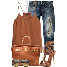 A fashion look from July 2014 featuring H&M tops, Replay jeans and Giuseppe Zanotti sandals. Browse and shop related looks.