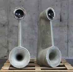 thedesignwalker:  concrete speakers