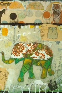 Elephant Pattern by Judy Paul