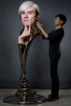 Kyoto-based artist Kazuhiro Tsuji has been shocking people with his incredibly lifelike sculptures of famous people. Description from visualnews.com. I searched for this on bing.com/images