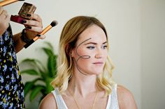 The most basic tip for applying bronzer is drawing a three shape on both sides of your face. 19 Blush, Bronzer, And Highlighter Tips Every Beginner Should Know How To Apply Bronzer, Highlighter And Bronzer, Concealer, Applying Bronzer, Maybelline, Nyx, Face Facial, Laura Geller, Facial Cleanser