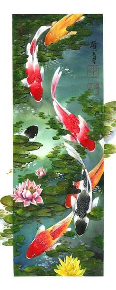 New Kitchen Cabinets Shaker Style Doors Ideas Koi Painting, Chinese Painting, Silk Painting, Chinese Art, Koi Fish Drawing, Koi Fish Tattoo, Fish Drawings, Art Koi, Fish Art