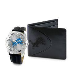 Detroit Lions NFL Men's Watch & Wallet Set