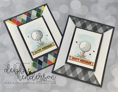 - Debbie's Designs: Country Club Masculine Fancy Fold! Masculine Birthday Cards, Masculine Cards, Golf Cards, Birthday Photo Booths, Paper Cards, Men's Cards, Baby Cards, Country Crafts, Fathers Day Cards