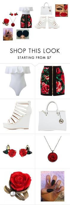"""""""graduation outfit"""" by jaedynsymone on Polyvore featuring Balmain, Charlotte Russe and Michael Kors"""