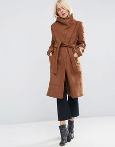 ASOS Coat in Wool Bl