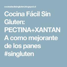 Cocina Fácil Sin Gluten: PECTINA+XANTANA como mejorante de los panes #singluten