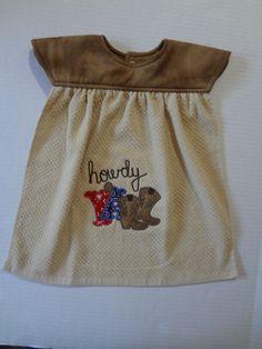 Howdy, Toddler Bib, Western, Bibs, Cowboy Boots Design, by StaronsHomespunTreas on Etsy