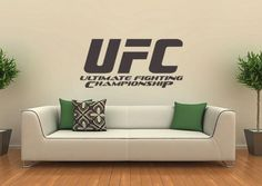 UFC Art Vinyl Stickers   -Great for the Game room!