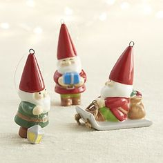 Gnome Christmas Ornaments ~ Oh I want all of these!