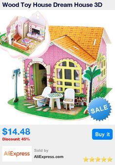 Wood Toy House Dream House 3D Puzzles Jigsaw DIY Educational Toys for Children Kids * Pub Date: 13:16 Apr 12 2017