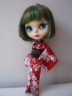 ~Handmade with care~ Kimono for blythe, dal, byul, yeolume and similar dolls
