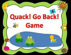 FREE The Quack! Go Back! Game is an open-ended board game. It comes with 20 of my Final /k/ Articulation Cards for articulation, phonological awareness, phonics or rhyming practice.  Great for speech therapy or small groups in the classroom. It is perfect for duck, frog, farm animal, spring or Easter themes. pieces. #articulation #preschool #language #TpT #teachers pay teachers #speech therapy #speech