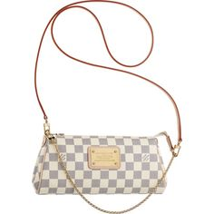 Louis Vuitton N55214 Damier Azur Canvas Eva Clutch Azul