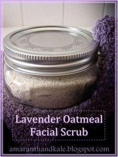 Amaranth & Kale: Lavender Oatmeal Facial Scrub