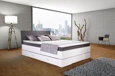 Bett 140 x 200 cm GLOBE weiß-anthrazit | SB Möbel Discount Ikea, New Room, Box, Laundry Room, Furniture, Design, Home Decor, Bedroom Inspiration, Chic
