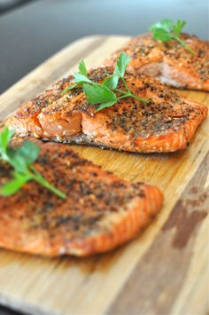 Pan Seared Peppered Salmon    #foods #healthy #recipe