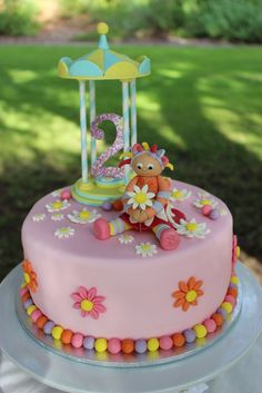 Upsy Daisy - In The Night Garden Birthday Party Ideas Photo 1 of 12 Catch My Party Girls 2nd Birthday Cake, Garden Birthday Cake, Birthday Parties, Birthday Crafts, Birthday Bash, Birthday Ideas, Daisy Party, Baby Girl Cakes, Cake Baby