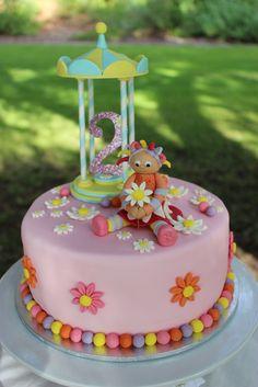Upsy Daisy - In The Night Garden Birthday Party Ideas Photo 1 of 12 Catch My Party Girls 2nd Birthday Cake, Garden Birthday Cake, Birthday Ideas, Birthday Crafts, Birthday Bash, Daisy Party, Baby Girl Cakes, Cake Baby, Daisy Cakes