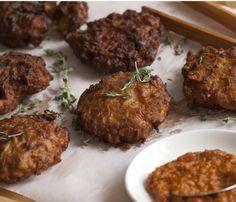 Onion and Coriander Bhajis #recipe