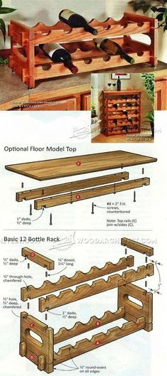 Stacking Wine Rack Plans - Furniture Plans and Projects Stacking Wine Rack Plans - Furniture Plans and Projects Small Wood Projects, Home Projects, Home Decor Furniture, Furniture Plans, Woodworking Furniture, Woodworking Projects, Wine Rack Plans, Bottle Rack, Wood Plans