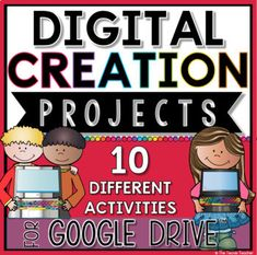 5 EASY Back to School Technology Projects - The Techie Teacher® Google Drive, Digital Word, Book Creator, Math Manipulatives, Teaching Technology, Writing Lessons, Writing Journals, Classroom Projects, Thing 1