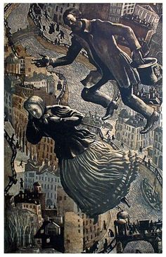 Вильнер Виктор (р. 1925-). Любовь Свидригайлова 1974 г. Цветная литография_Victor Vilner # St. Petersburg