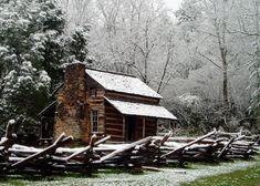 Winter Cabin by Robert Clayton