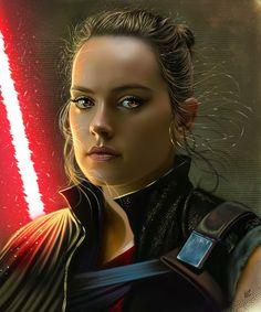 Dark Rey by vurdeM on DeviantArt Portrait Illustration, Digital Illustration, Star Wars Sith, Star Wars Fan Art, Graphic Design Print, Marvel, Digital Portrait, Digital Art, Reylo