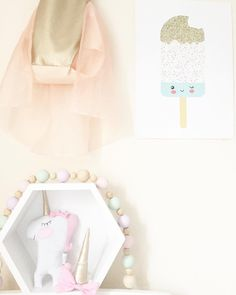 """Handmade Heart  on Instagram: """"✖️Restock is happening TONIGHT at 10pm GMT✖️ Mini Unicorns and Unicorn Bow headbands will be available to order along with all other items! (Tap for some other cute handmade shops ) #handmade #supporthandmade #shopsmall #kidsinterior #unicorn #shelfie #hexagon #hexagonshelf #icecream #decor #nursery #cute #igers #igdaily #igkids"""""""