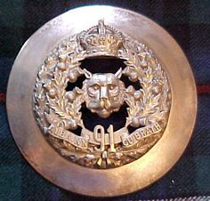 The 91st Regiment( Canadian Highlanders) Officer's Plaid Brooch.   Post 1902