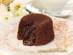 Шоколадный фондан (кексы с жидкой начинкой)