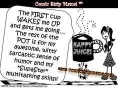 The magic of coffee.