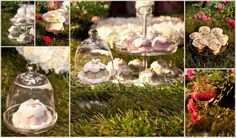 Confettata di primavera in un romantico prato fiorito di dolcezze