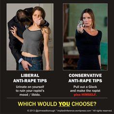 Give aspiring rapists a fair chance: Disarm law abiding gun owners!