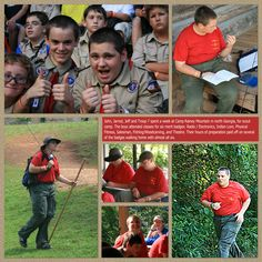 boy scout scrapbook pages - Google Search