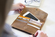 Personalised Leather Purse by Scaramanga, the perfect gift for Explore more unique gifts in our curated marketplace.