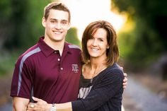 senior pictures, ideas for guys, locations, lake, railroad tracks, gymnast, Texas Aggie, mother son