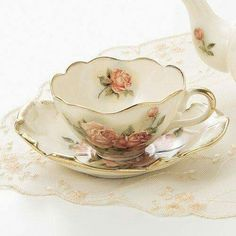 Love the scalloped edges,on cup and saucer.