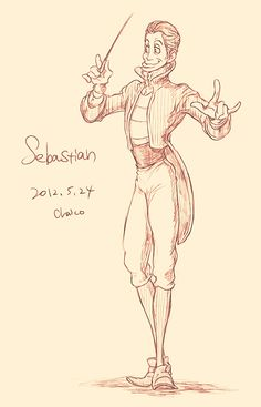 Disney animals as people - Sebastian by ~chacckco on deviantART