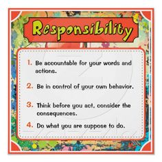 Responsibility (Character Traits Posters)