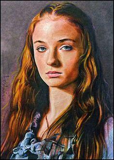 Sansa Stark #portrait #painting